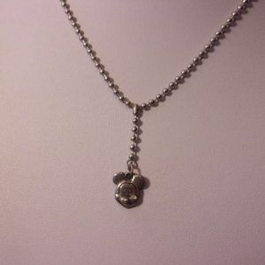 Disney Mickey Mouse Pewter Necklace